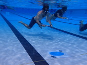 students participating in Calibration Snorkel